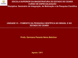 VI – Fomento de Pesquisa - Governo do Estado do Ceará