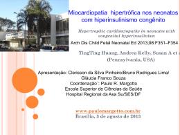 Miocardiopatia hipertrófica nos neonatos com hiperinsulinismo