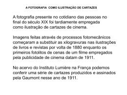 a fotografia e cartaz de cinema