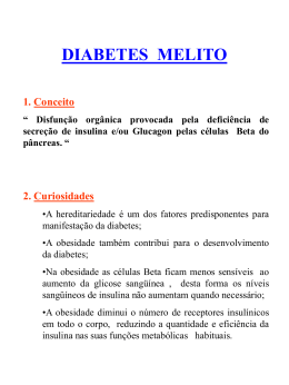 Diabetes - Defesa Civil do Paraná
