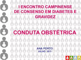 Diabetes mellitus gestacional (8): Conduta Obstétrica