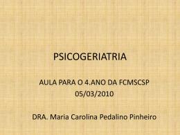 PSICOGERIATRIA