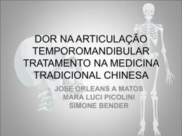 dor na articulação temporomandibular na medicina tradicional