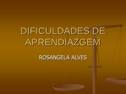 DIFICULDADES DE APRENDIAZGEM