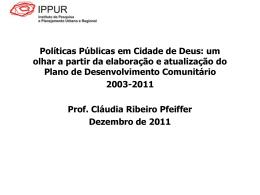 Apresentação - Claudia Pfeiffer