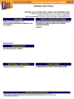 Clique aqui para acessar o modelo de banner - FAC-FEA