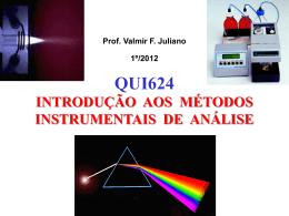 Prof. Valmir F. Juliano 1º/2012 INTRODUÇÃO AOS MÉTODOS