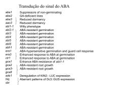 Fisiologia Molecular da Resposta ao ABA