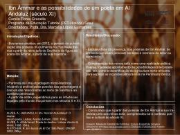 Ibn Âmmar e as possibilidades de um poeta em Al