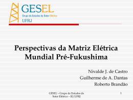 Guilherme Dantas – GESEL-UFRJ