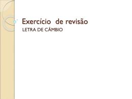 Exercício de revisão