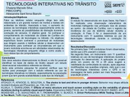 TECNOLOGIAS INTERATIVAS NO TRÂNSITO Chaiane