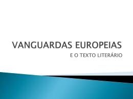 VANGUARDAS EUROPEIAS - CAFETERIA SABOR LITERÁRIO