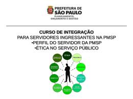 Ética no serviço público - Prefeitura de São Paulo