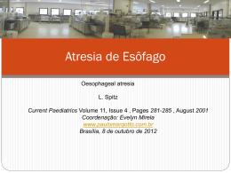 Atresia de Esôfago - Paulo Roberto Margotto