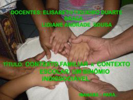 DOCENTES: ELISABETH FIGUEIRO DUARTE BRAGA