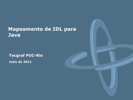 Mapeamento de interface - Tecgraf JIRA / Confluence - PUC-Rio