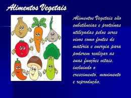 Alimento vegetais