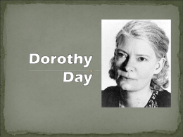 Dorothy Day - Material de Catequese
