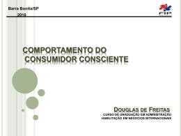 COMPORTAMENTO DO CONSUMIDOR CONSCIENTE
