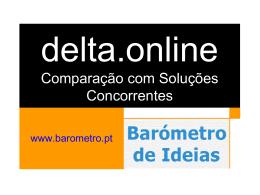 delta.online Comparação com Soluções Concorrentes