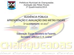 Apresentação - Prefeitura de Charqueadas
