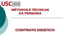 contrato didático – 1º dia aula
