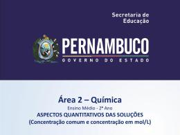Aspectos quantitativos das soluções (concentração comum e
