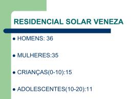 RESIDENCIAL SOLAR VENEZA - Domicilium