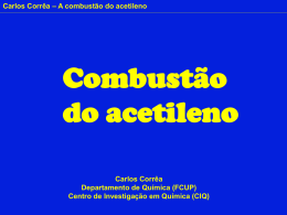 Combustão do acetileno - PowerPoint