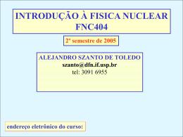 Introdução à Física Nuclear