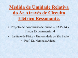 Medida de Umidade Relativa do Ar utilizando circuito elétrico
