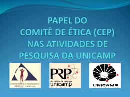 PAPEL DO COMITÊ DE ÉTICA (CEP) NAS ATIVIDADES DE