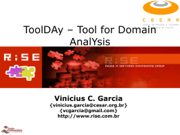 ToolDAy – Tool for Domain AnalYsis
