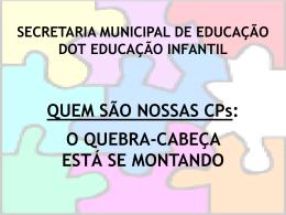 Apresentação do perfil - Secretaria Municipal de Educação