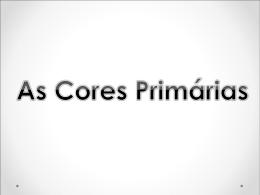 Cores primárias