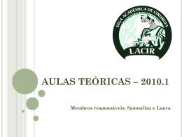 AULAS TEÓRICAS – 2010.1