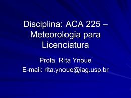 1_evolucao_atmosfera - Departamento de Ciências Atmosféricas