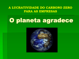 Exemplo de lucratividade com carbono zero