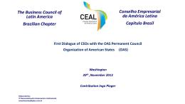 Apresentação do PowerPoint - Organization of American States