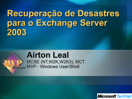 Disaster Recovery para Microsoft Exchange