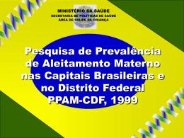 de Aleitamento Materno nas capitais brasileiras, PPAM