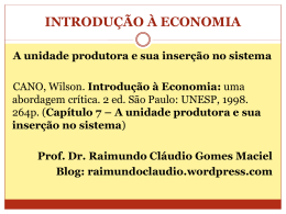 Slides_IntEcon_Cap7-Cano - Raimundo Cláudio