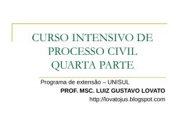 CURSO INTENSIVO DE PROCESSO CIVIL