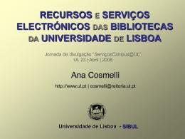 SIBUL - Universidade de Lisboa