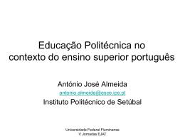 Educação Politécnica no contexto do ensino superior português
