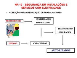 nr 10 – segurança em instalações e serviços com eletricidade