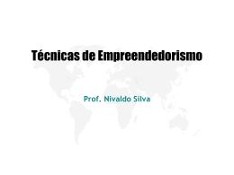 Empreendedorismo - Site do Professor Nivaldo Silva