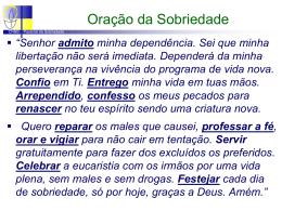 10 - Oração da Sobriedade