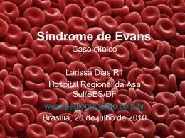 Síndrome de Evans - Paulo Roberto Margotto